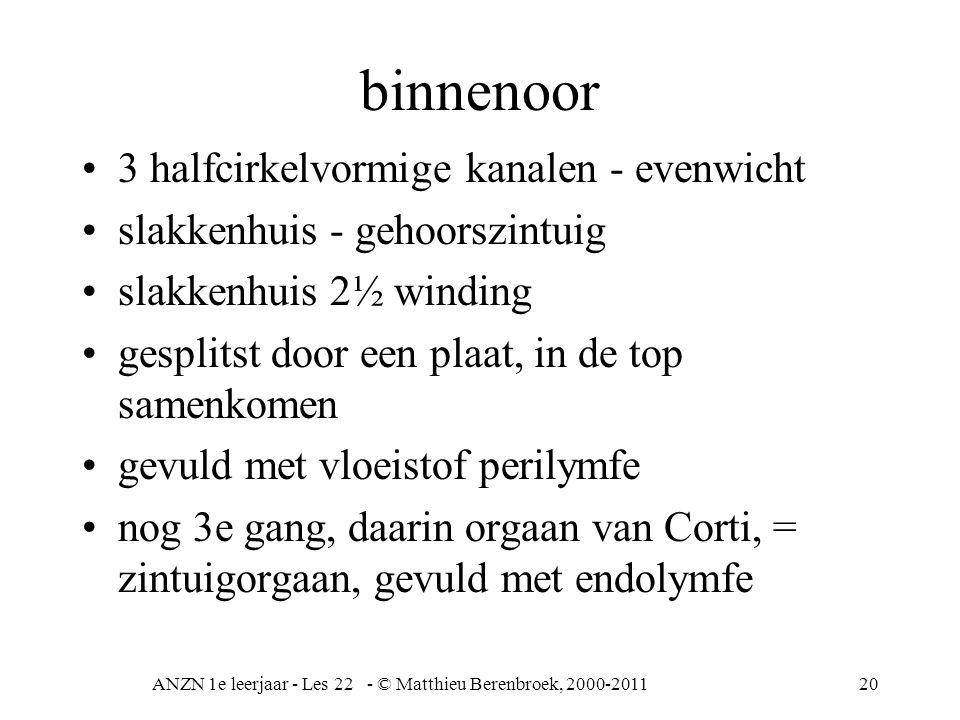 ANZN 1e leerjaar - Les 22 - © Matthieu Berenbroek, 2000-2011