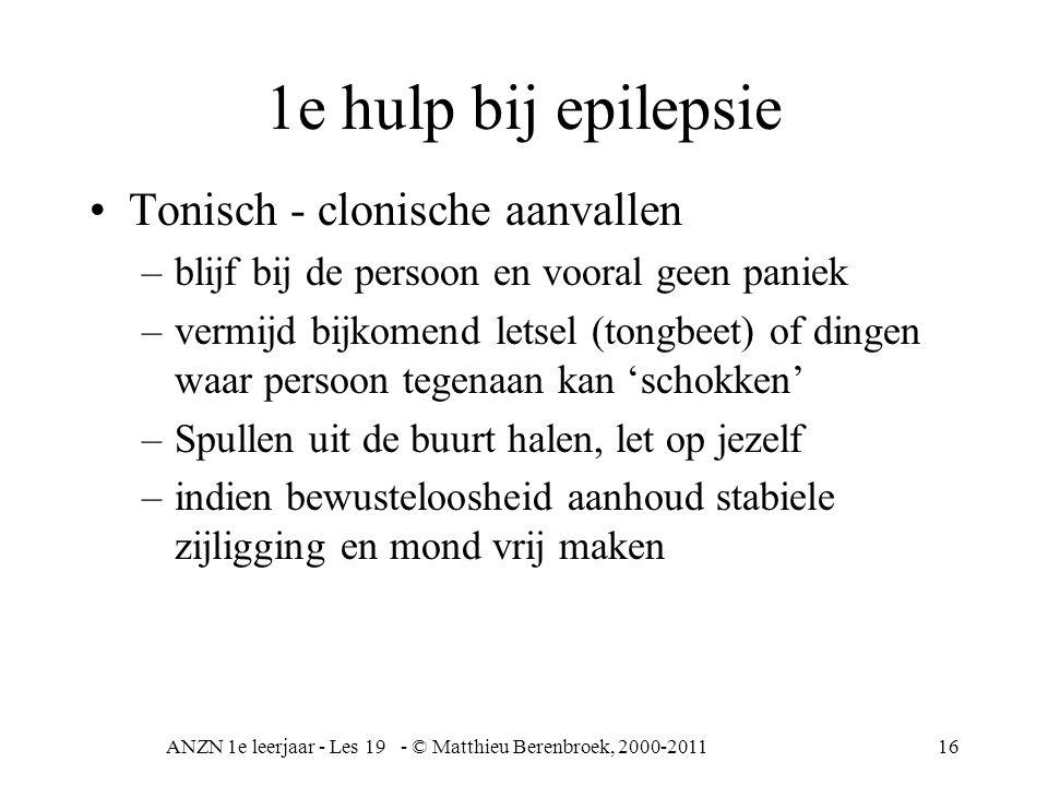 ANZN 1e leerjaar - Les 19 - © Matthieu Berenbroek, 2000-2011