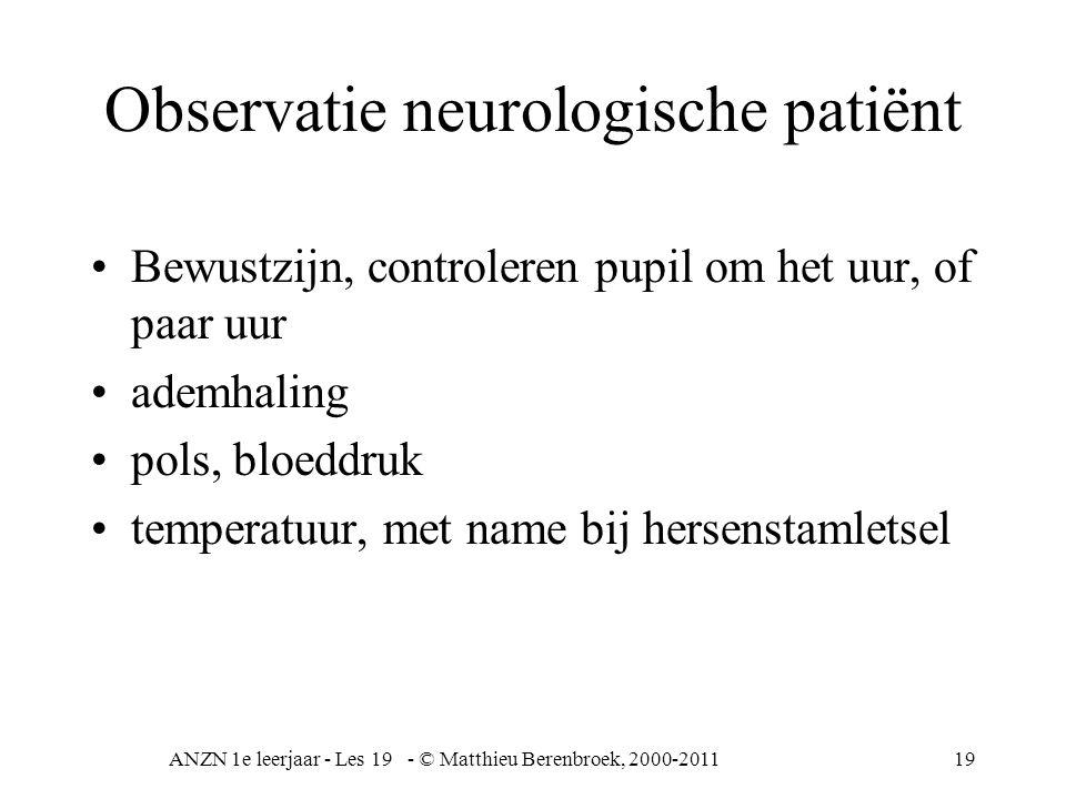 Observatie neurologische patiënt
