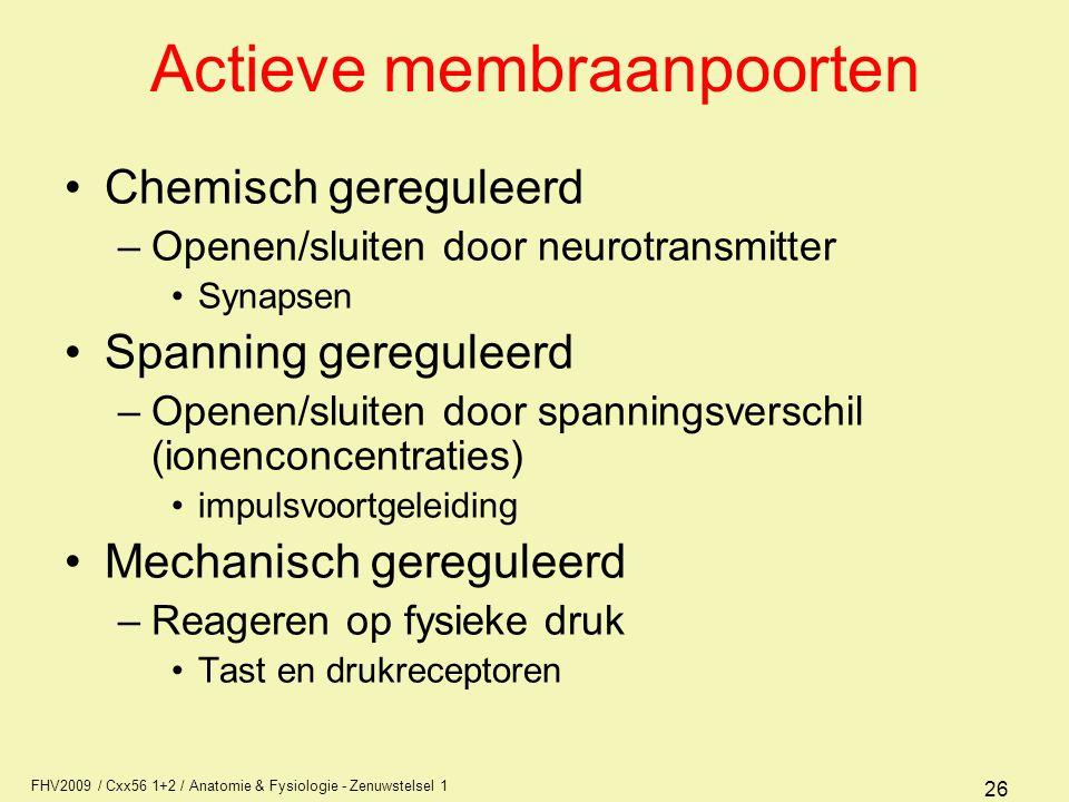 Actieve membraanpoorten