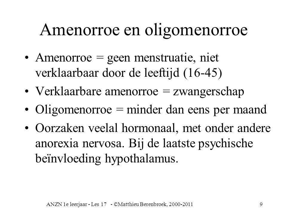 Amenorroe en oligomenorroe
