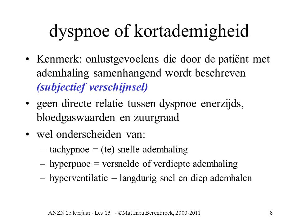 dyspnoe of kortademigheid