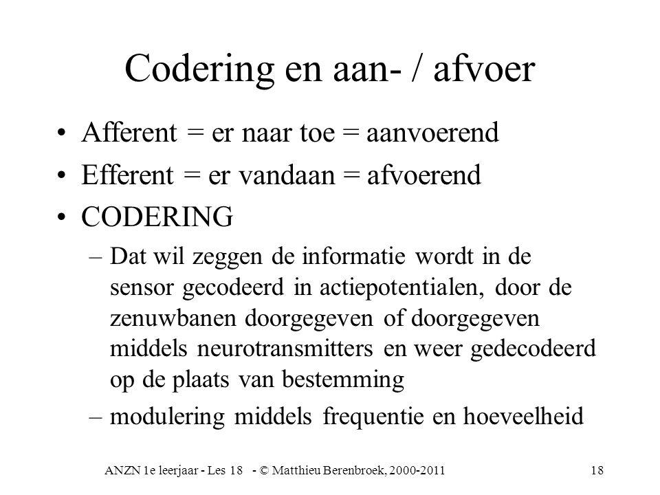 Codering en aan- / afvoer