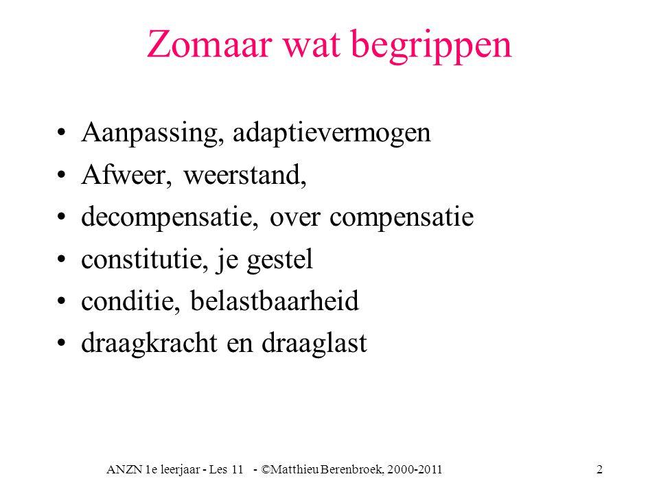 ANZN 1e leerjaar - Les 11 - ©Matthieu Berenbroek, 2000-2011