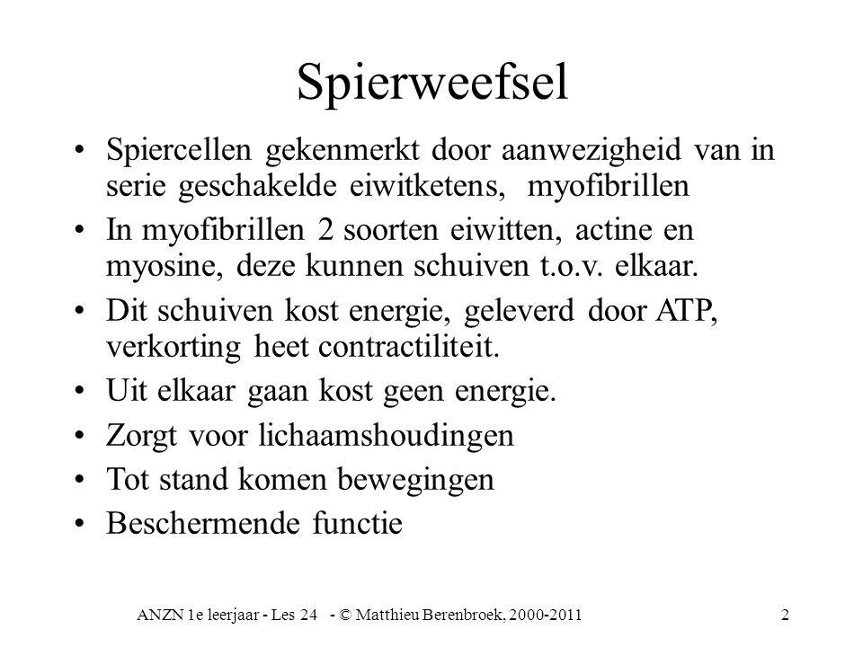 ANZN 1e leerjaar - Les 24 - © Matthieu Berenbroek, 2000-2011