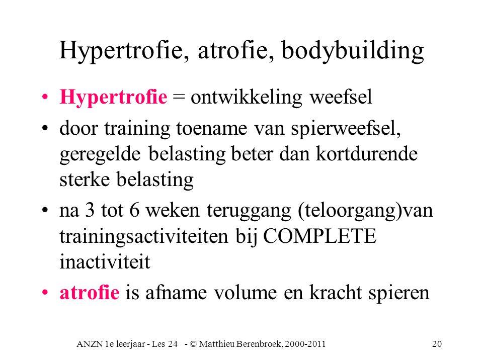 Hypertrofie, atrofie, bodybuilding