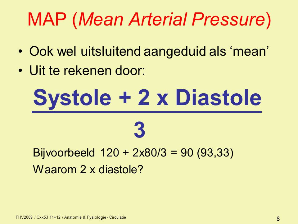 MAP (Mean Arterial Pressure)