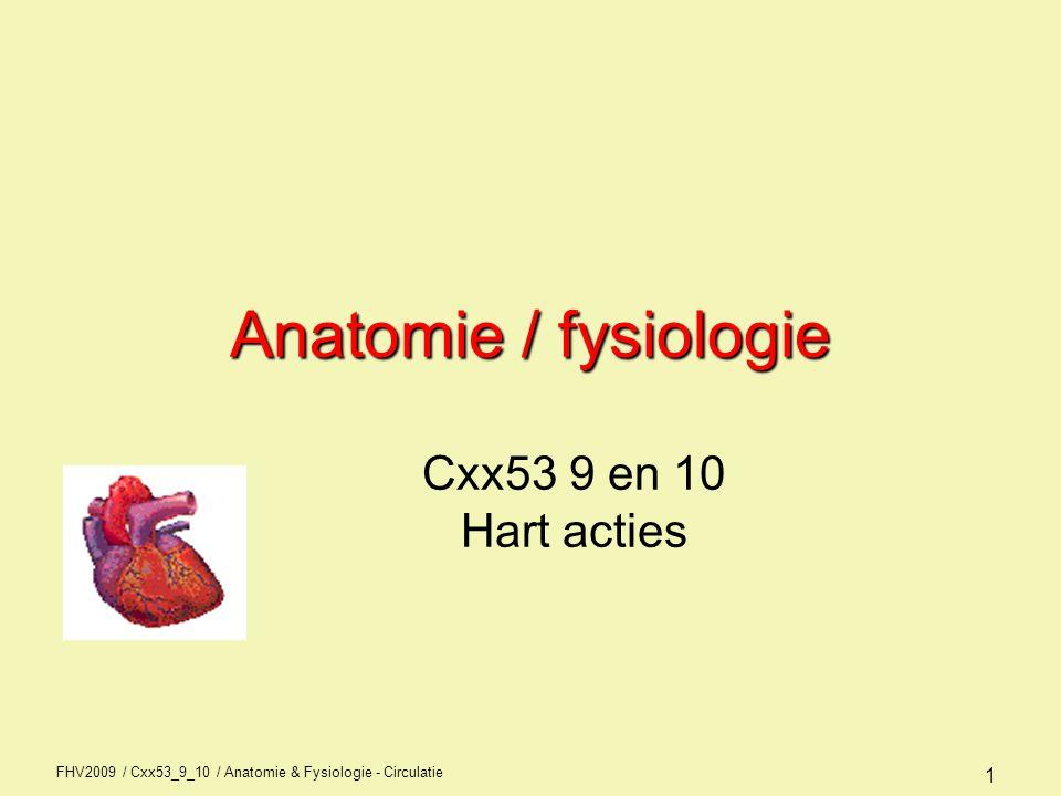 Anatomie / fysiologie Cxx53 9 en 10 Hart acties