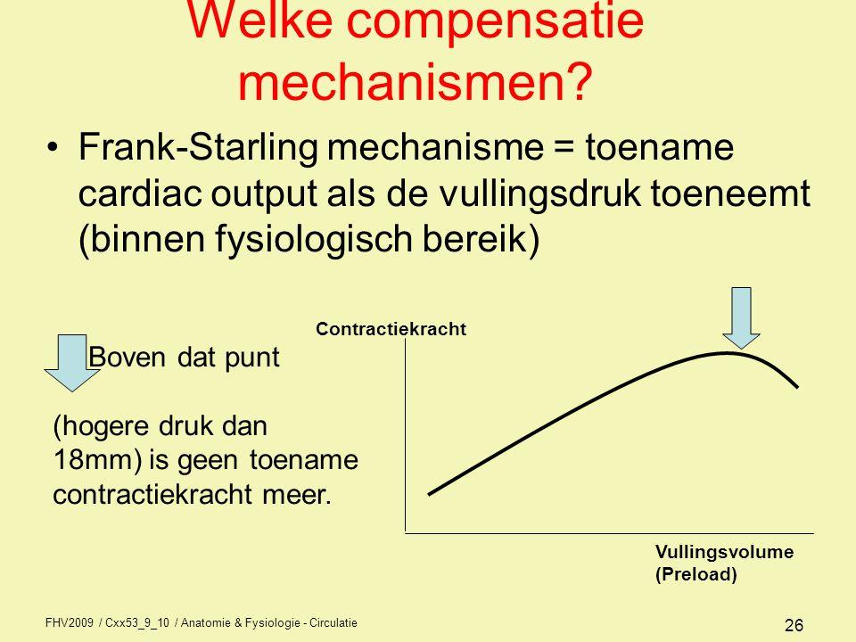 Welke compensatie mechanismen