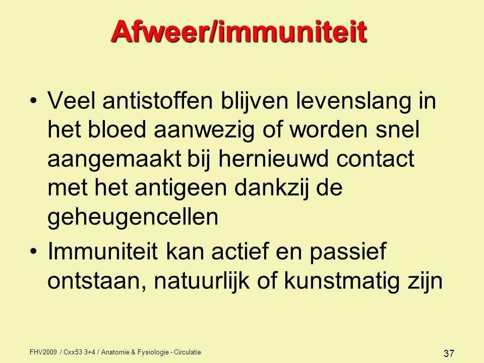 Afweer/immuniteit