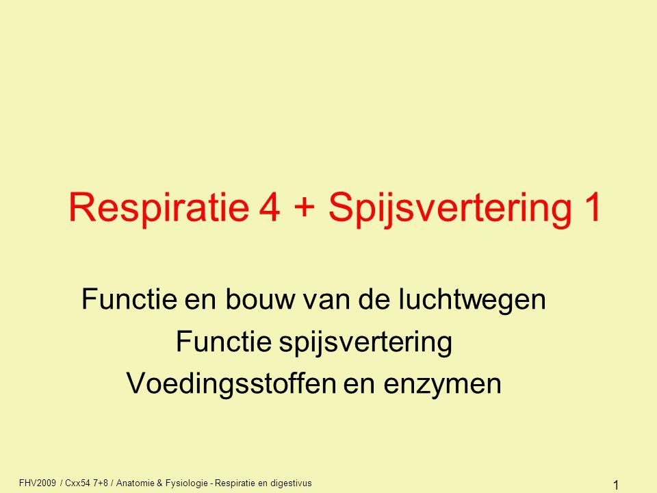 Respiratie 4 + Spijsvertering 1