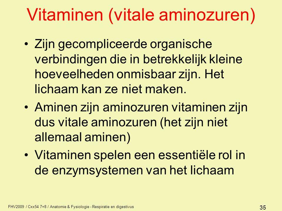 Vitaminen (vitale aminozuren)