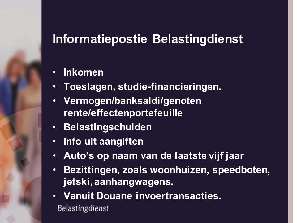 Informatiepostie Belastingdienst