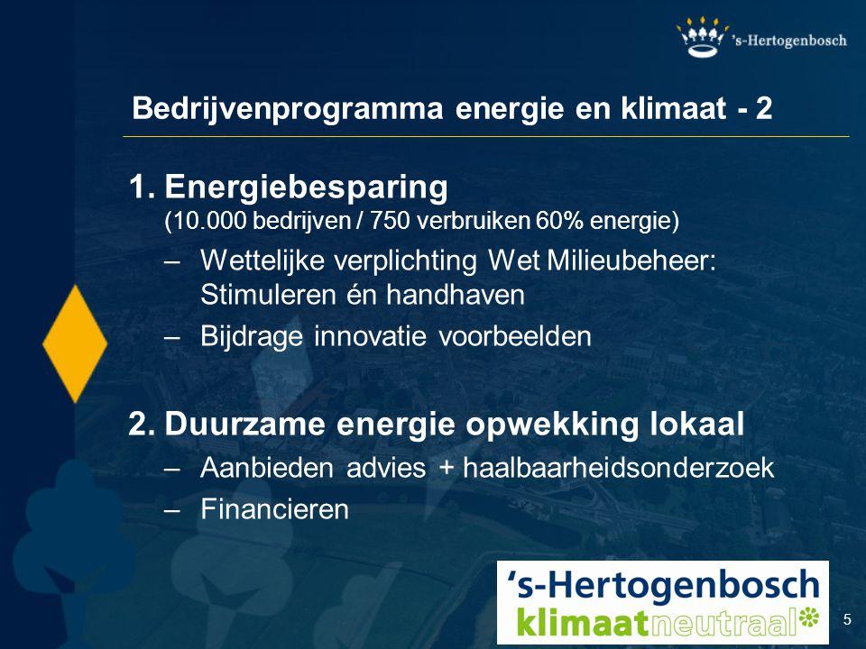 Bedrijvenprogramma energie en klimaat - 2