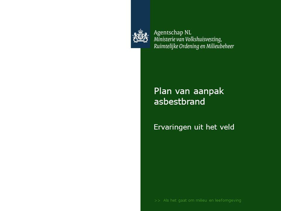 Plan van aanpak asbestbrand