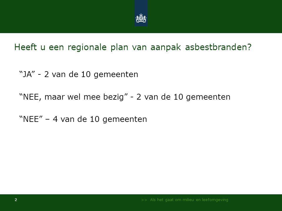 Heeft u een regionale plan van aanpak asbestbranden