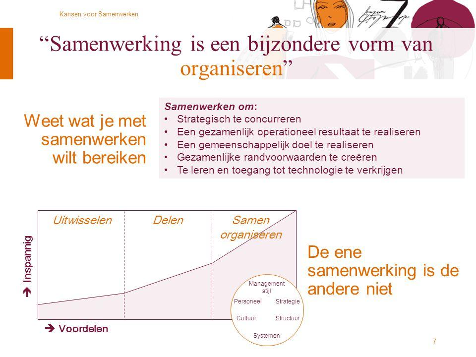 Samenwerking is een bijzondere vorm van organiseren