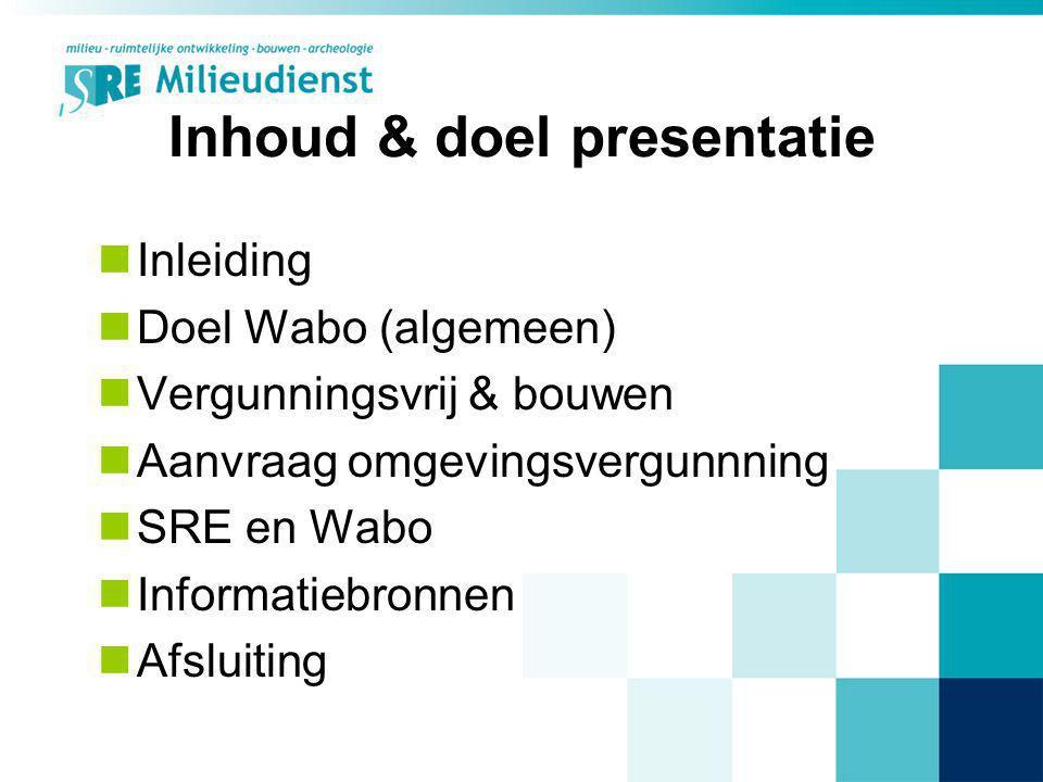 Inhoud & doel presentatie