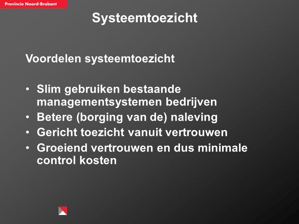 Systeemtoezicht Voordelen systeemtoezicht