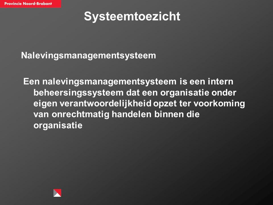 Systeemtoezicht Nalevingsmanagementsysteem