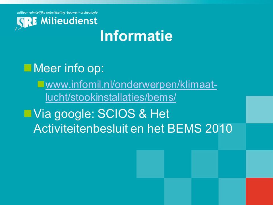 Informatie Meer info op: