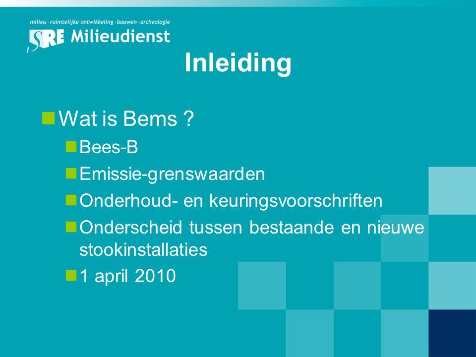 Inleiding Wat is Bems Bees-B Emissie-grenswaarden