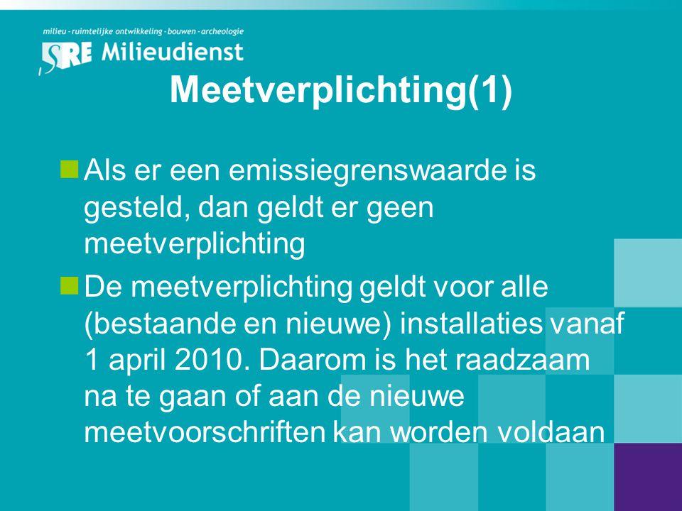 Meetverplichting(1) Als er een emissiegrenswaarde is gesteld, dan geldt er geen meetverplichting.