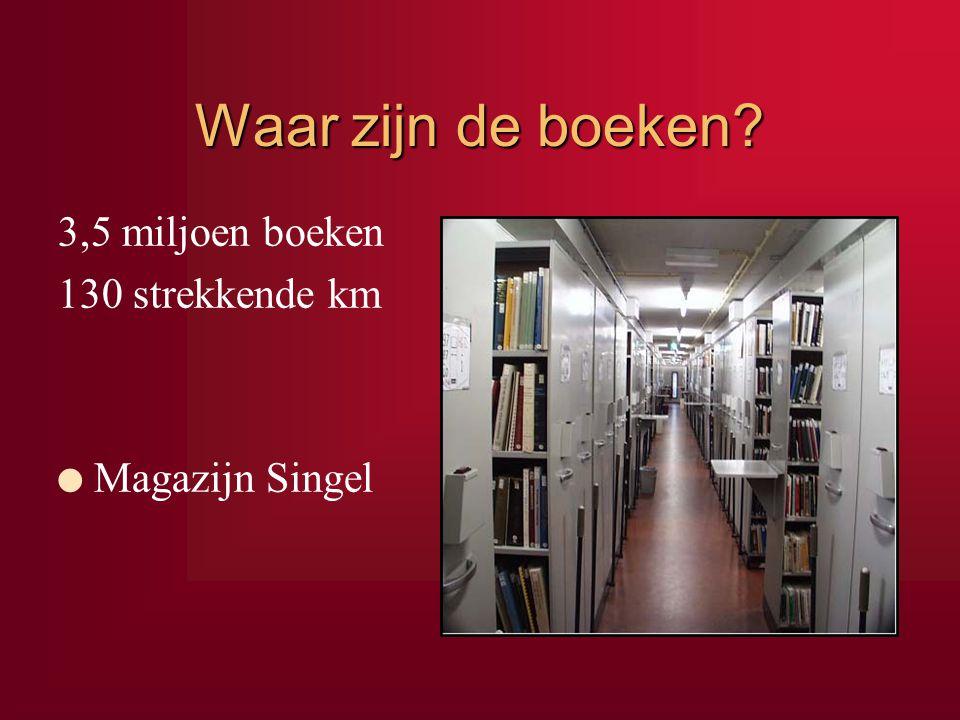 Waar zijn de boeken 3,5 miljoen boeken 130 strekkende km