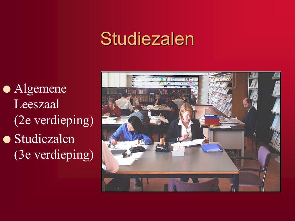 Studiezalen Algemene Leeszaal (2e verdieping)
