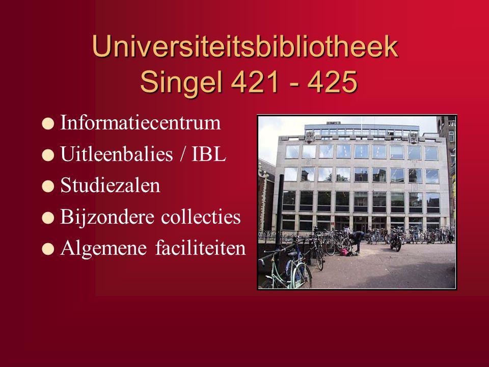 Universiteitsbibliotheek Singel 421 - 425