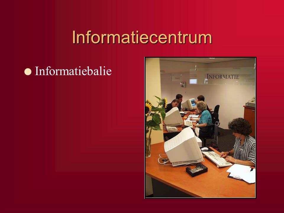Informatiecentrum Informatiebalie Om te beginnen het Informatiecentrum