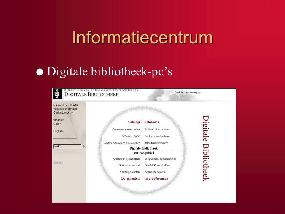 Informatiecentrum Digitale bibliotheek-pc's