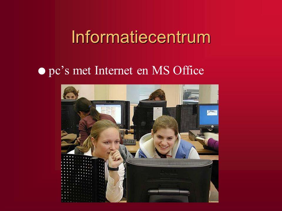 Informatiecentrum pc's met Internet en MS Office