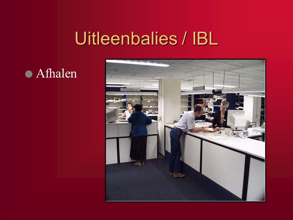 Uitleenbalies / IBL Afhalen