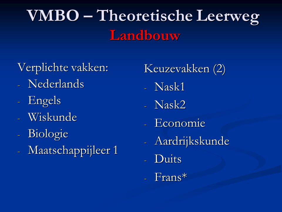 VMBO – Theoretische Leerweg Landbouw