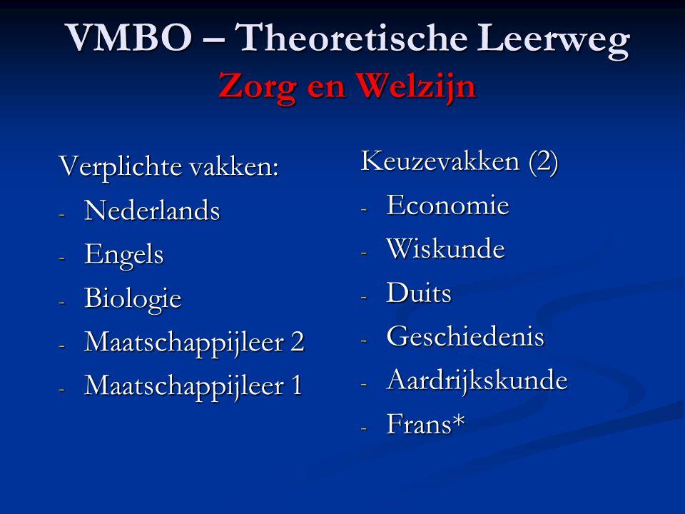 VMBO – Theoretische Leerweg Zorg en Welzijn
