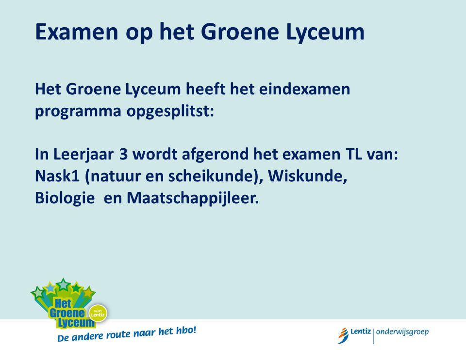 Examen op het Groene Lyceum