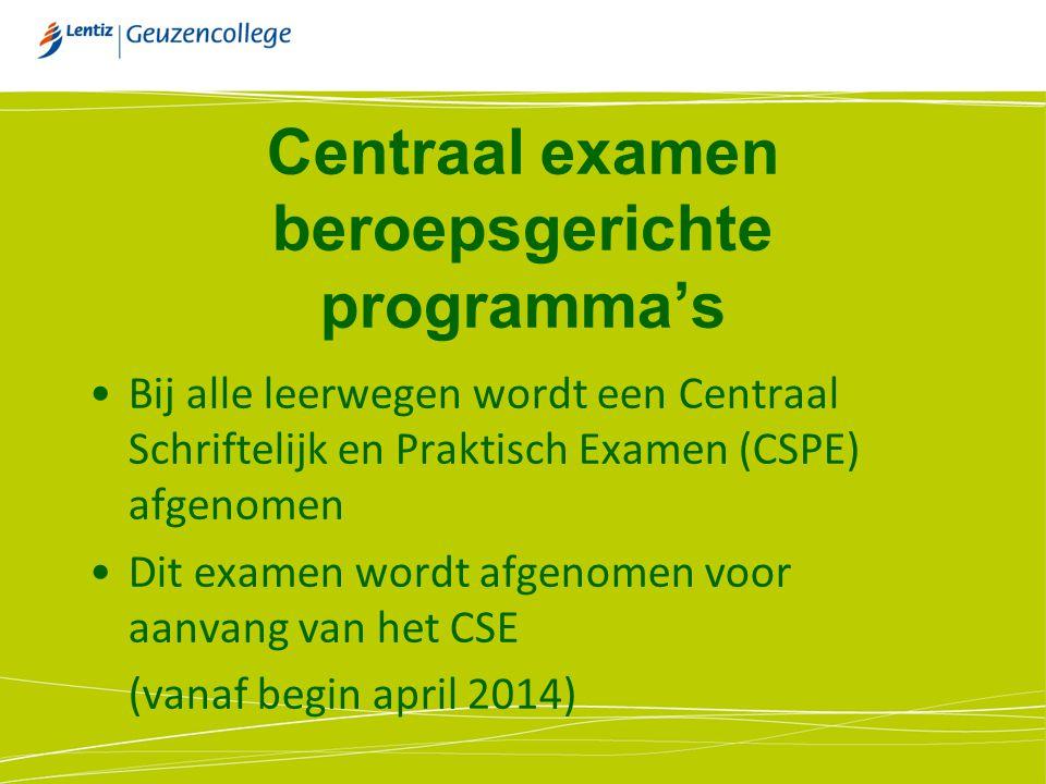 Centraal examen beroepsgerichte programma's