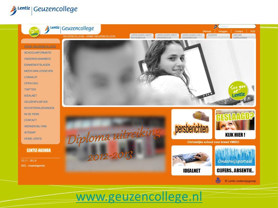 De website www.geuzencollege.nl