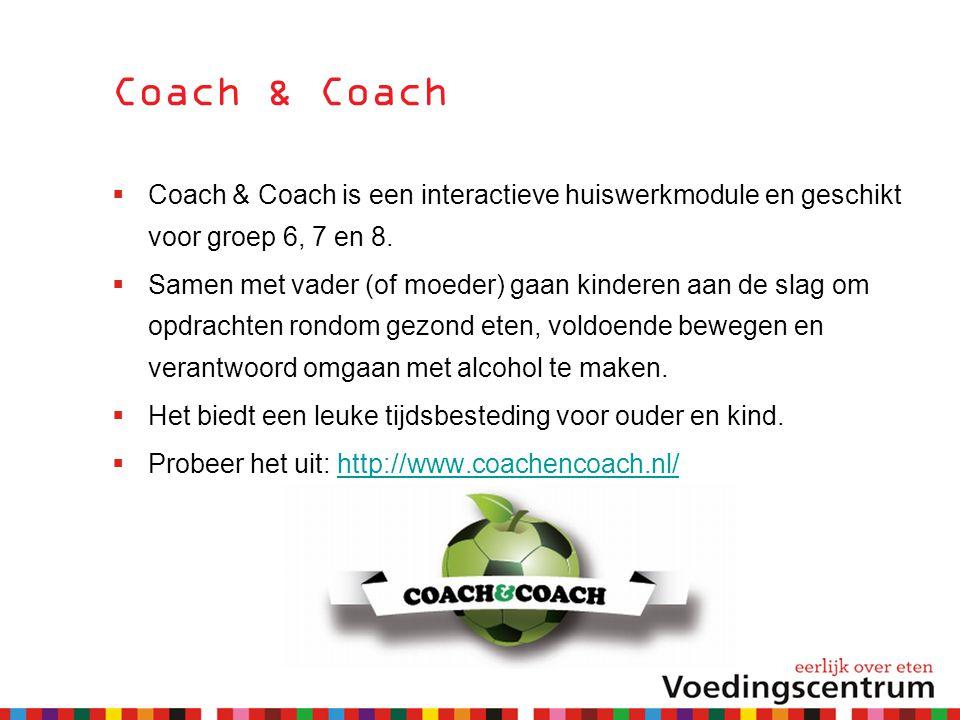 Coach & Coach Coach & Coach is een interactieve huiswerkmodule en geschikt voor groep 6, 7 en 8.