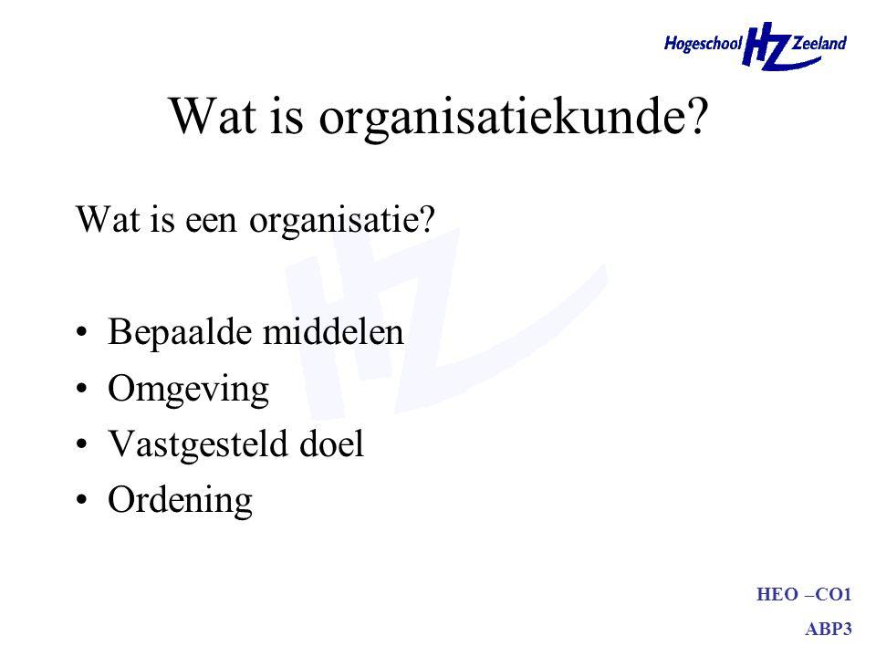Wat is organisatiekunde