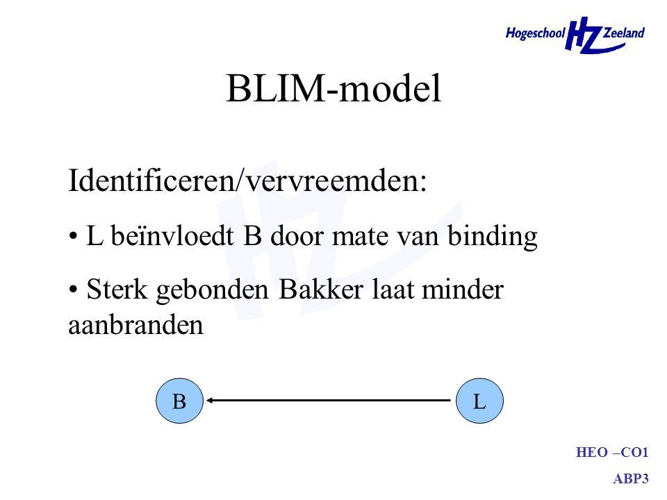 BLIM-model Identificeren/vervreemden: