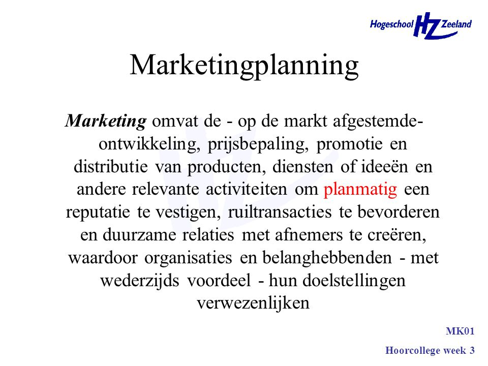 Marketingplanning