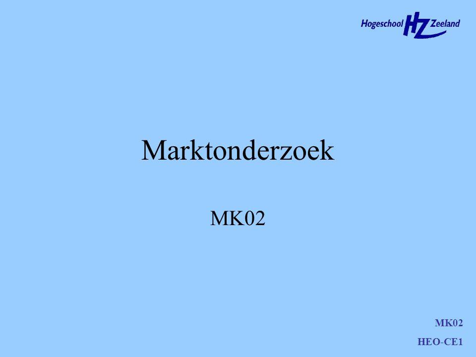 Marktonderzoek MK02 MK02 HEO-CE1