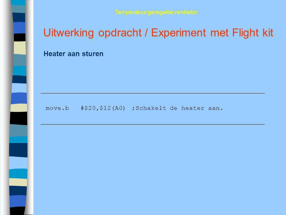 Uitwerking opdracht / Experiment met Flight kit