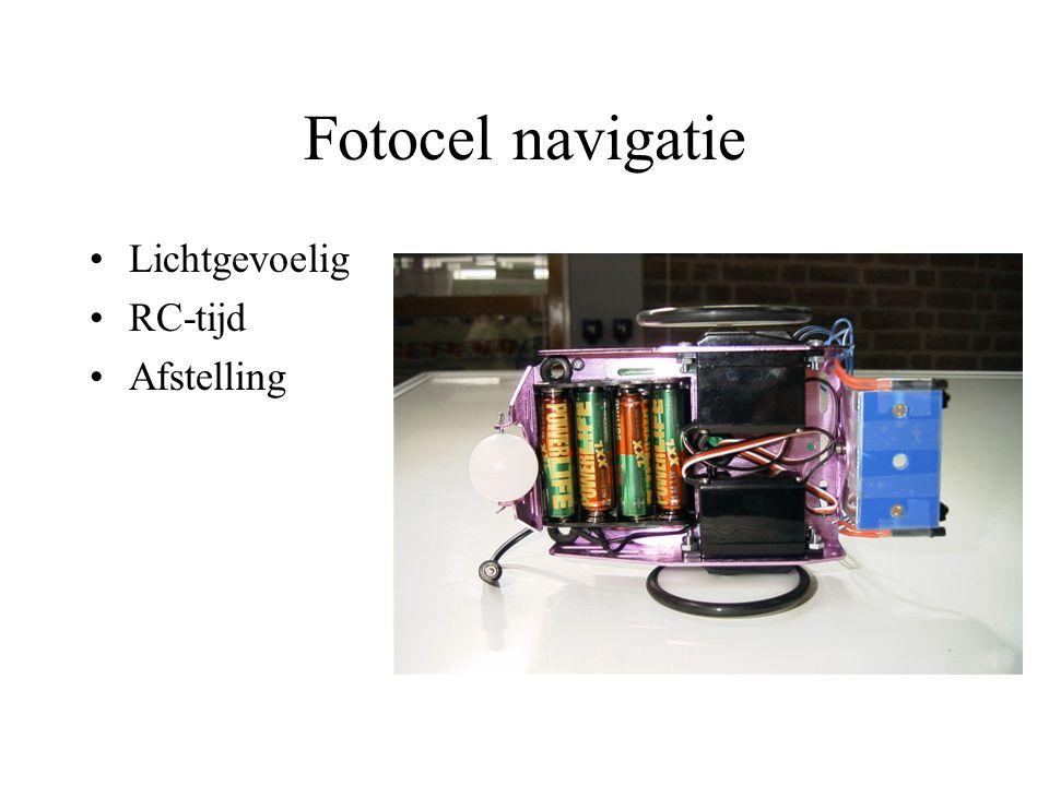 Fotocel navigatie Lichtgevoelig RC-tijd Afstelling