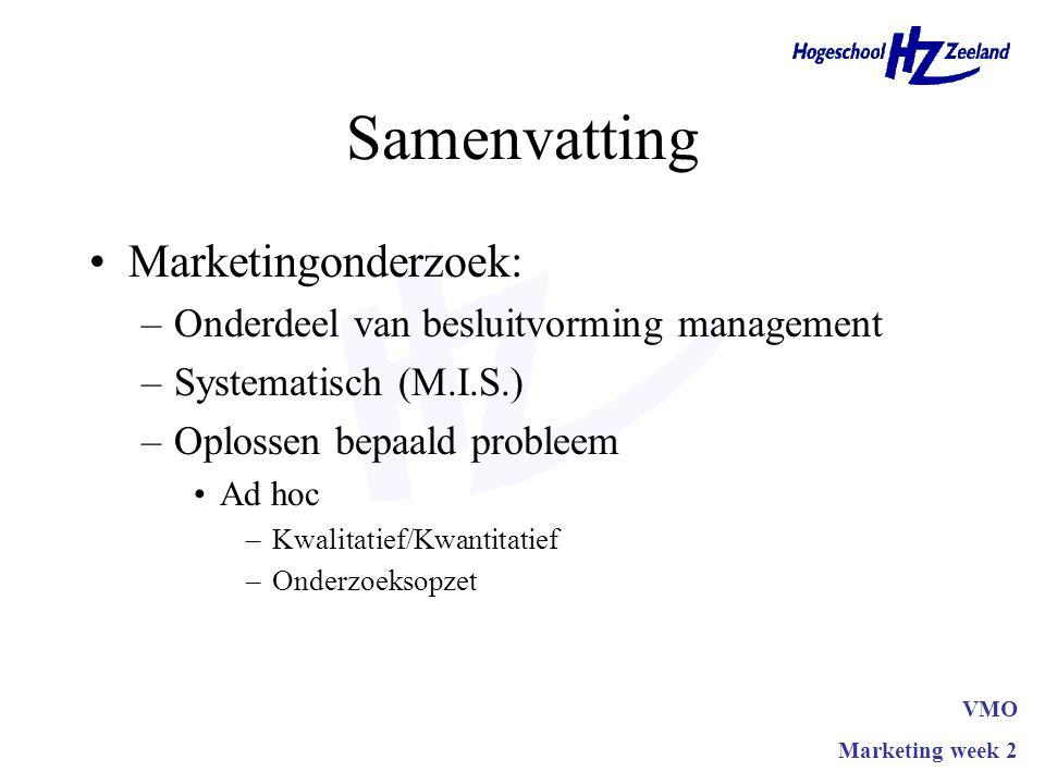 Samenvatting Marketingonderzoek: