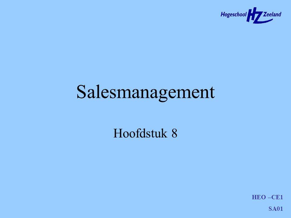 Salesmanagement Hoofdstuk 8
