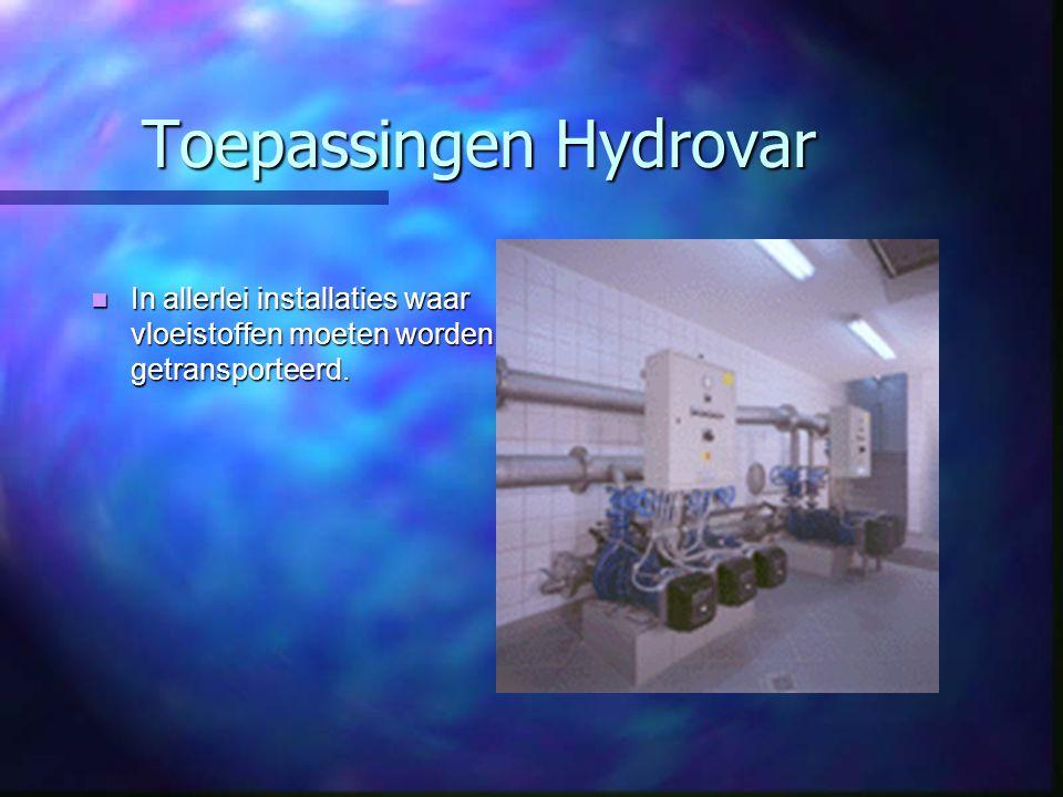Toepassingen Hydrovar
