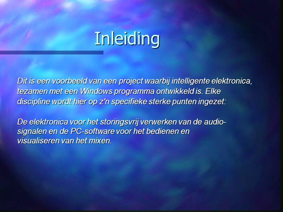 Inleiding Dit is een voorbeeld van een project waarbij intelligente elektronica, tezamen met een Windows programma ontwikkeld is. Elke.
